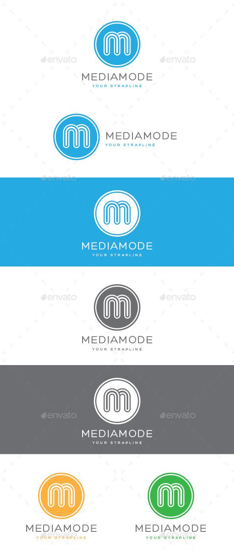 Media Mode Letter M Logo - Letters Logo Templates
