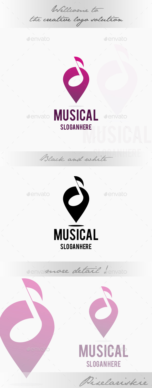 Musical Point Logo - Symbols Logo Templates