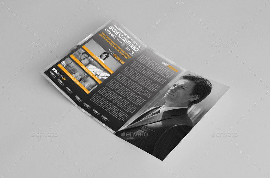 Trifold Business Conference Brochure Template By Petumdesign