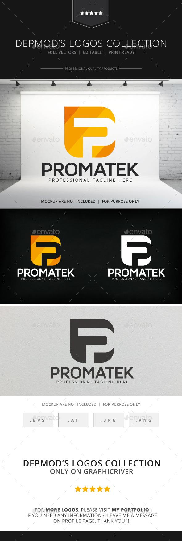 Promatek Logo - Letters Logo Templates