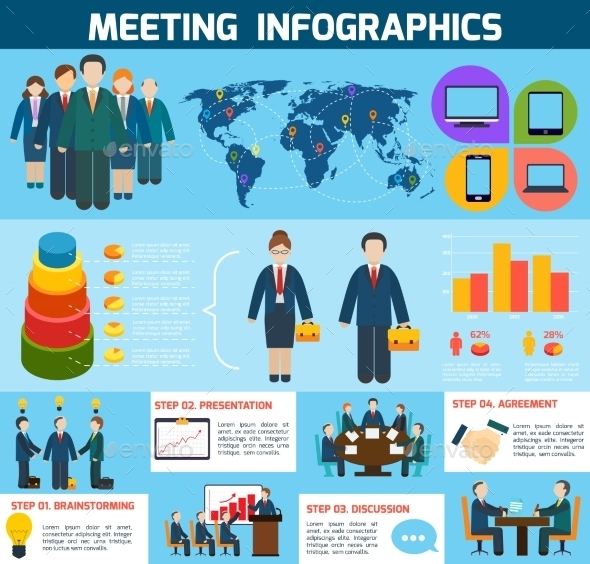 Business Meeting Infographics - Infographics