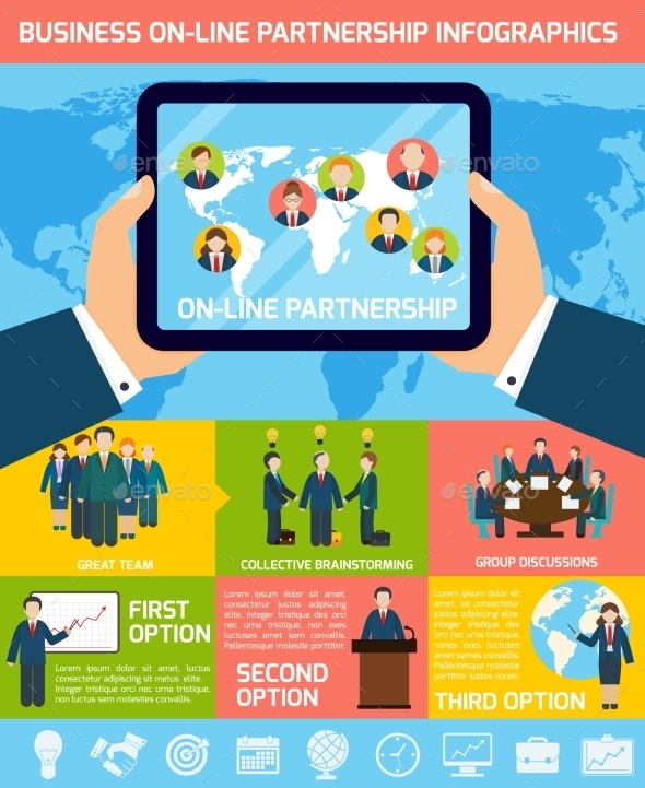 Business Partnership Infographics - Infographics