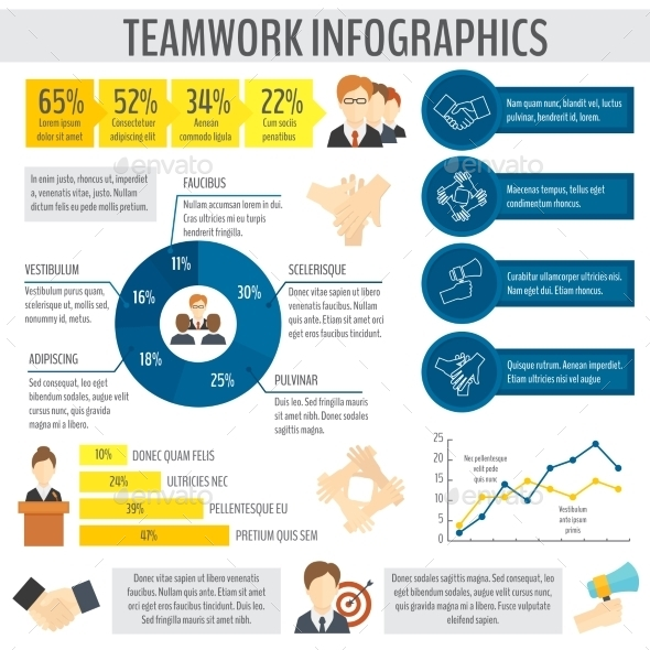 Business Teamwork Infographic - Infographics