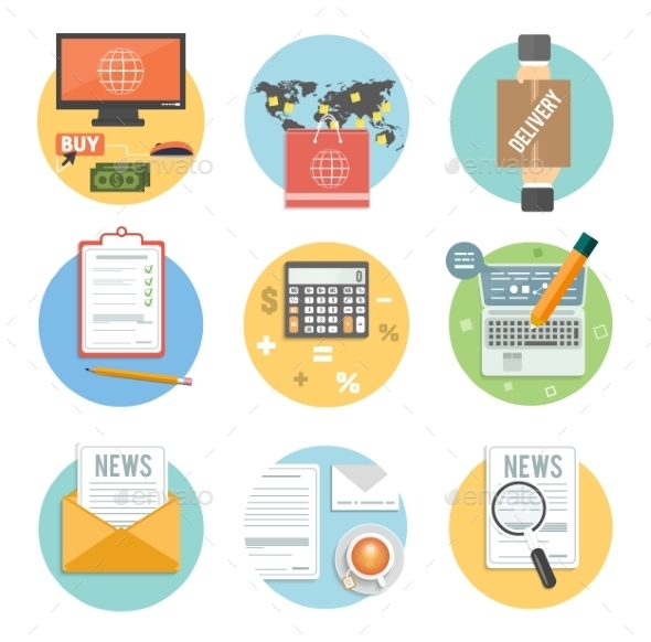 Business - Office and Marketing Items Icons - Concepts Business