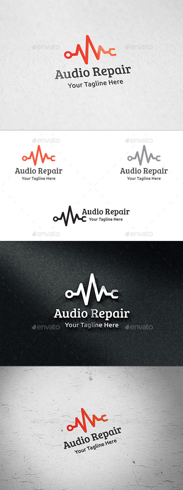 Audio Repair - Logo Template - Symbols Logo Templates