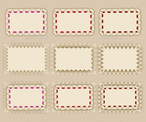 Set of Elegant Templates Frame Design - Borders Decorative