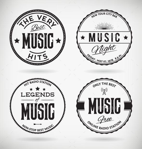 Music Badges - Decorative Symbols Decorative