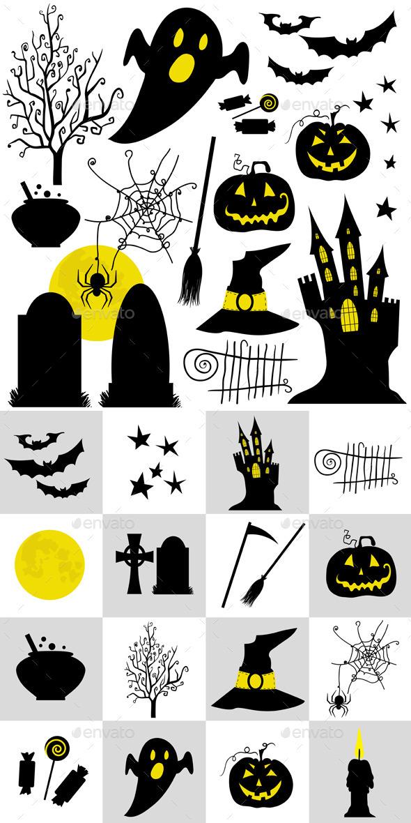 Halloween Set Symbols - Halloween Seasons/Holidays