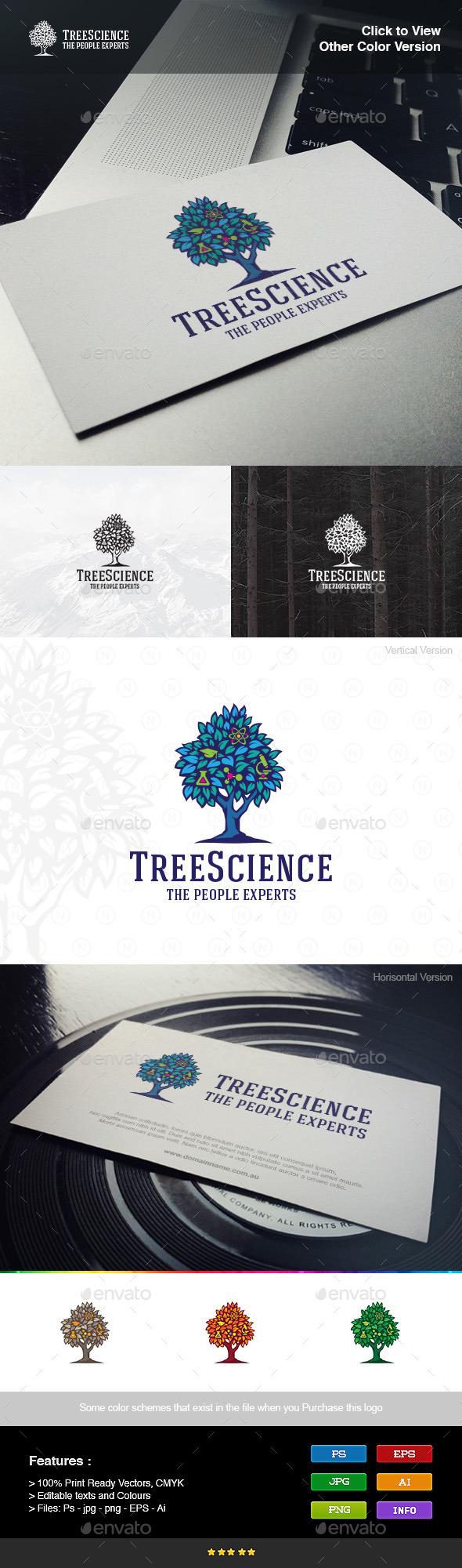 Tree Science - Nature Logo Templates