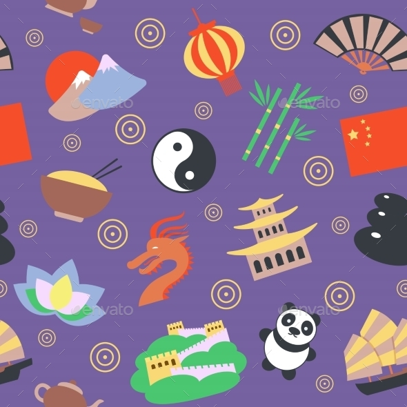 China Seamless Pattern - Backgrounds Decorative