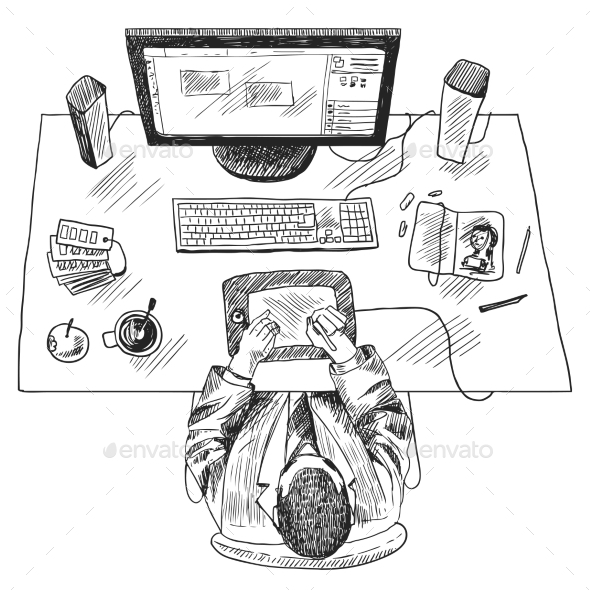 Designer Work Place - People Characters