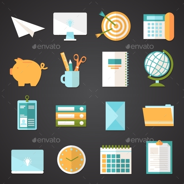 Office Icons Set - Business Icons