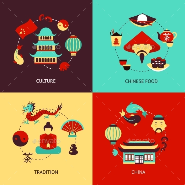 China Illustration Set - Concepts Business