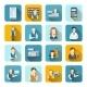 Salesman Icons Set Flat - GraphicRiver Item for Sale