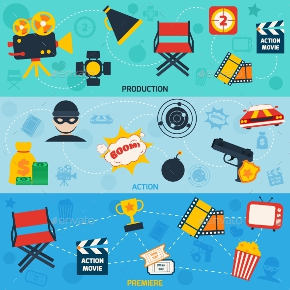 Action Movie Line Banners - Media Technology