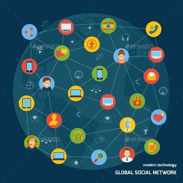 Social Network Concept - Media Technology