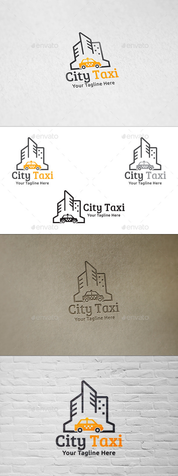 City Taxi - Logo Template - Buildings Logo Templates
