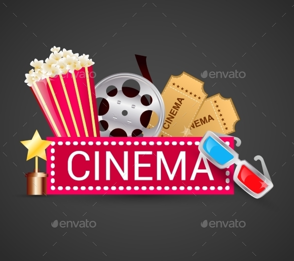 Cinema Icons Concept - Miscellaneous Vectors