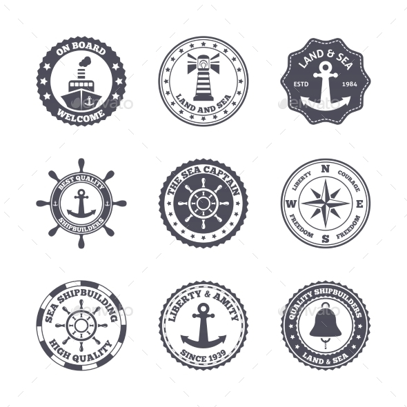 Sea Port Label Set - Concepts Business