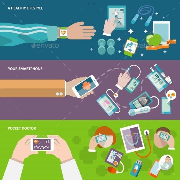 Digital Health Banner - Health/Medicine Conceptual