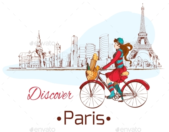 Discover Paris Poster - Travel Conceptual