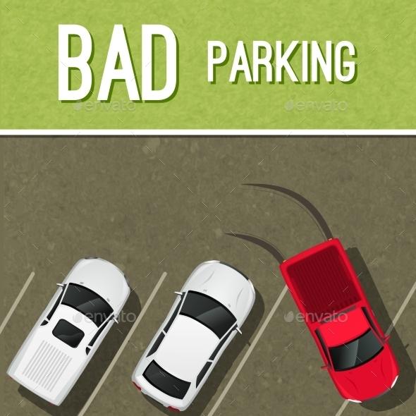 Parking Scene Poster - Miscellaneous Vectors