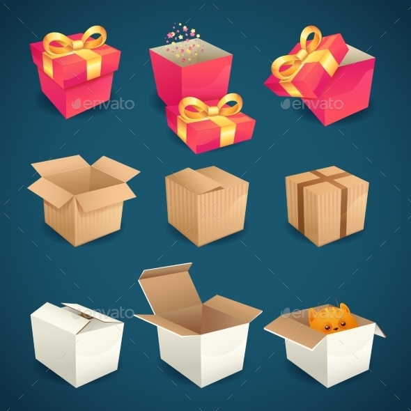 Box and Package Icons - Man-made Objects Objects
