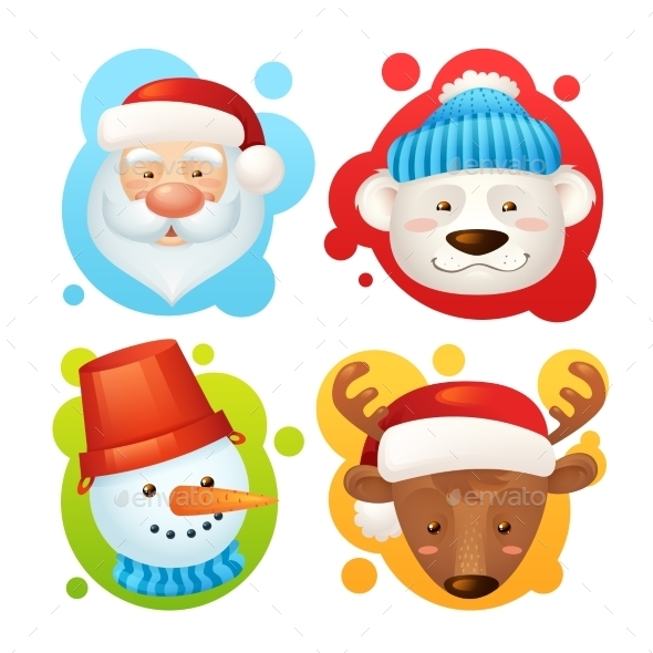 Christmas Characters Set - New Year Seasons/Holidays