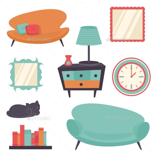 Interior Design Elements - Miscellaneous Vectors