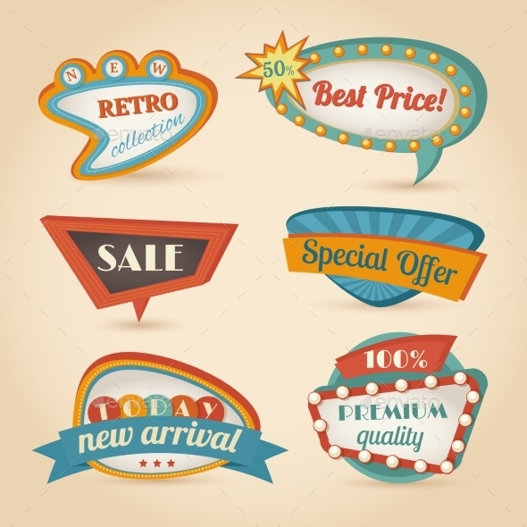 Retro Speech Bubble - Retail Commercial / Shopping
