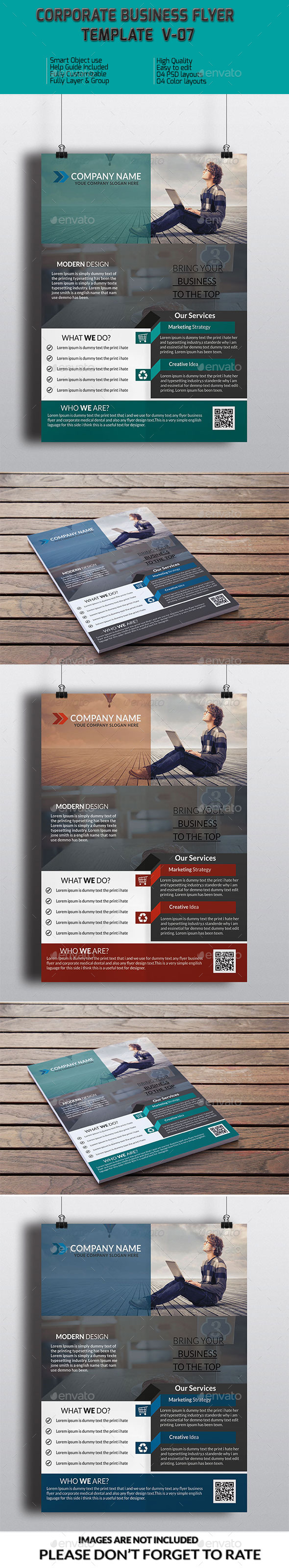 Corporate Business Flyer Template V-07 - Corporate Flyers