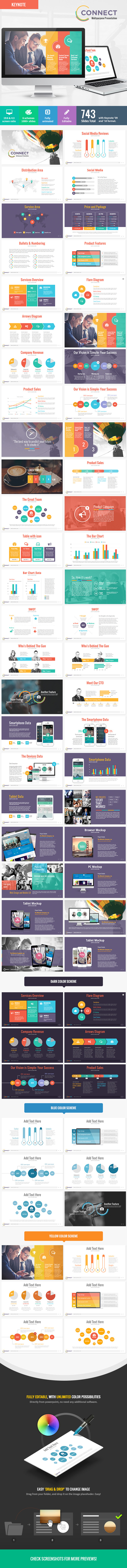 Connect - Modern Keynote Template - Keynote Templates Presentation Templates