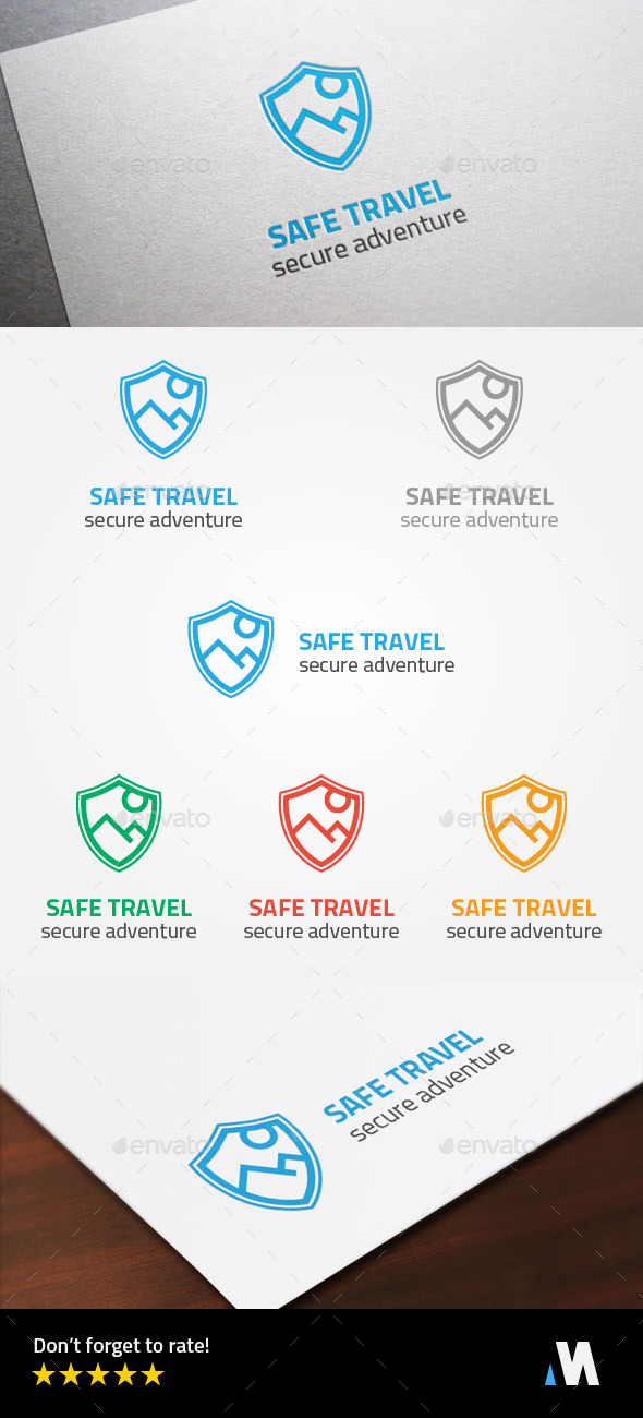 Secure Adventure or Safe Travel Logo Template - Symbols Logo Templates