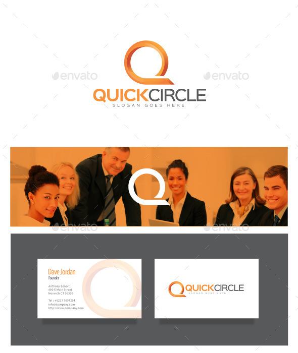 Quick Circle - Letter Q Logo - Letters Logo Templates