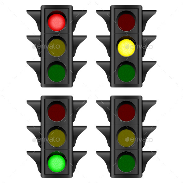 Traffic Light - Objects Vectors