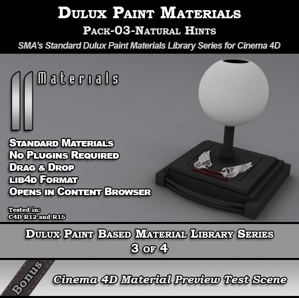 Dulux Paints Series Pack-03-Natural Hints [C4D] - 3DOcean Item for Sale