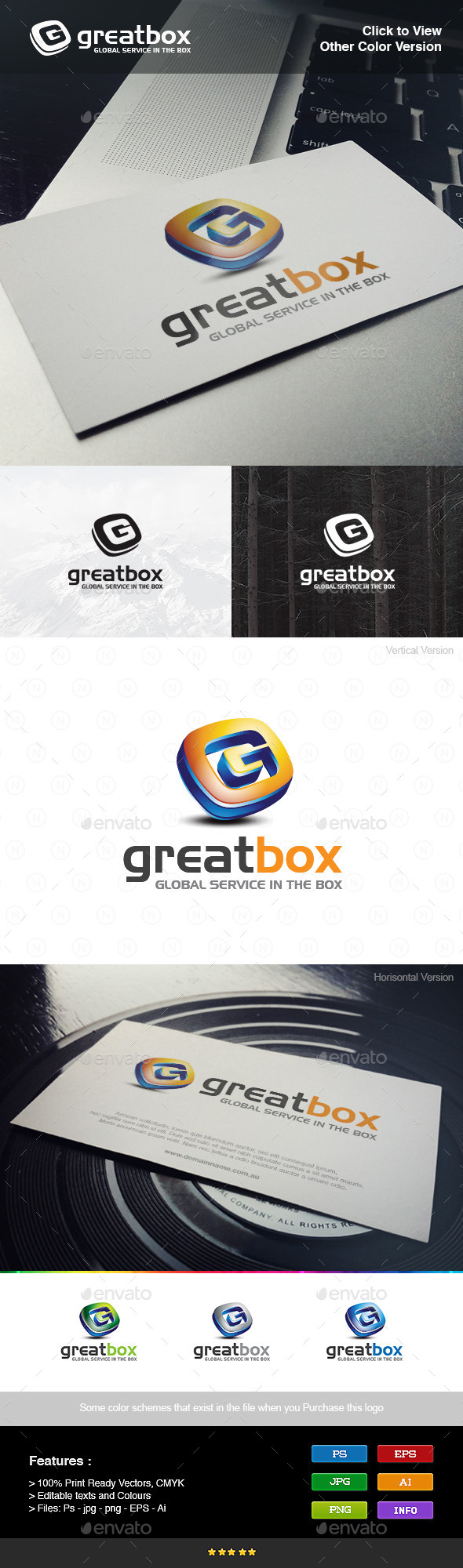 3D Box Letter G - Letters Logo Templates