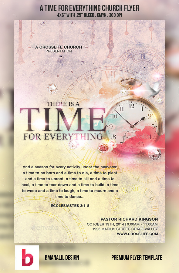 A Time for Everything Church Flyer - Church Flyers
