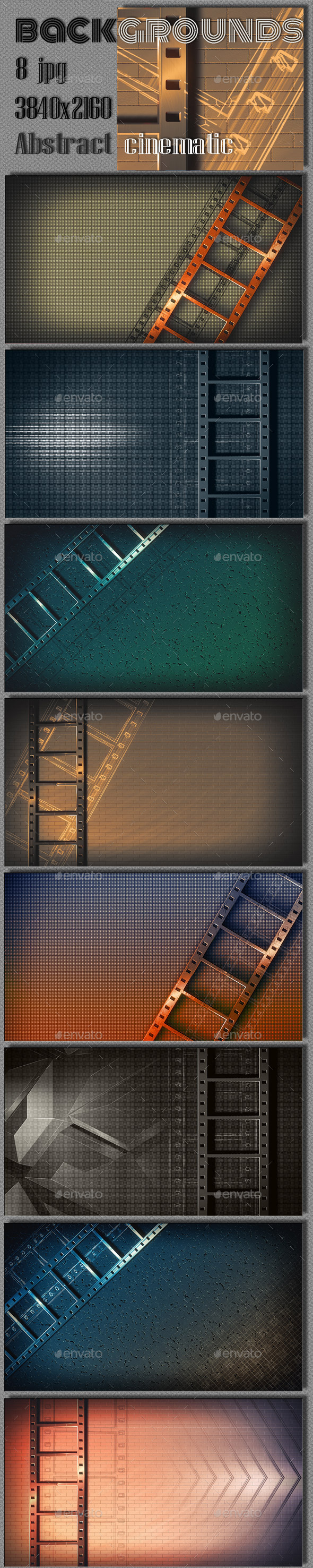 Abstract Film Steel Background - Miscellaneous Backgrounds
