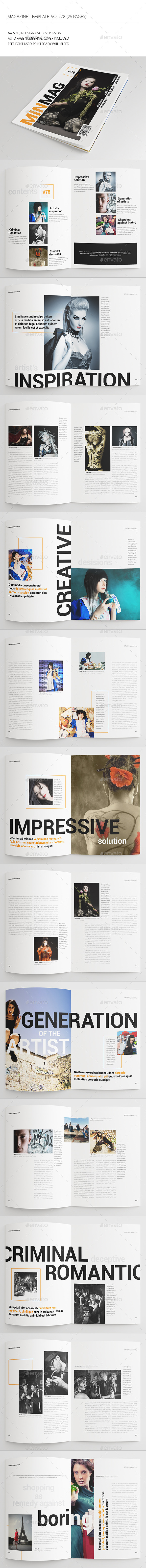25 Pages Universal Magazine Vol78 - Magazines Print Templates
