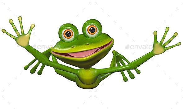 Flying Frog - Characters 3D Renders