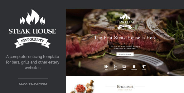 Steak House Food WordPress Theme - Food Retail