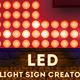 LED Lights Sign Photoshop Creator - GraphicRiver Item for Sale