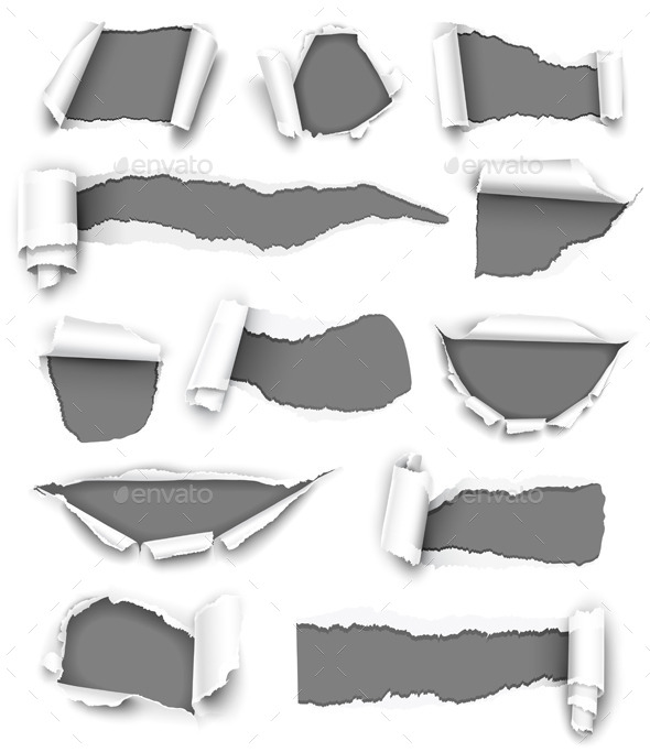 Collection of Gray Paper - Commercial / Shopping Conceptual