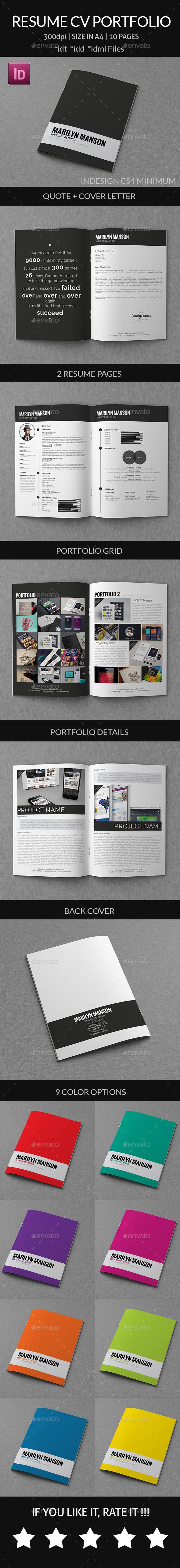 Resume Cv Portfolio - Resumes Stationery