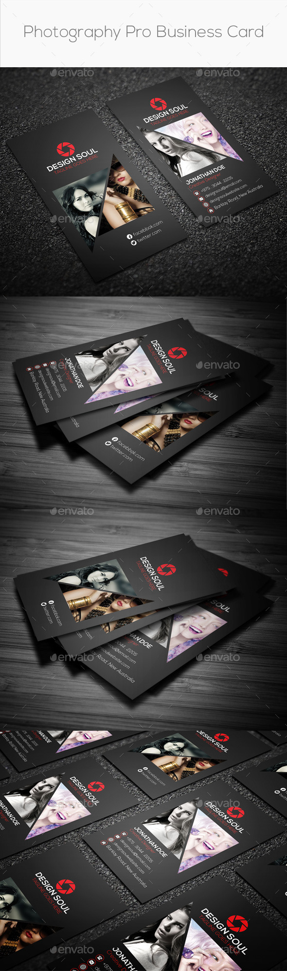 Photography Pro Business Card - Creative Business Cards
