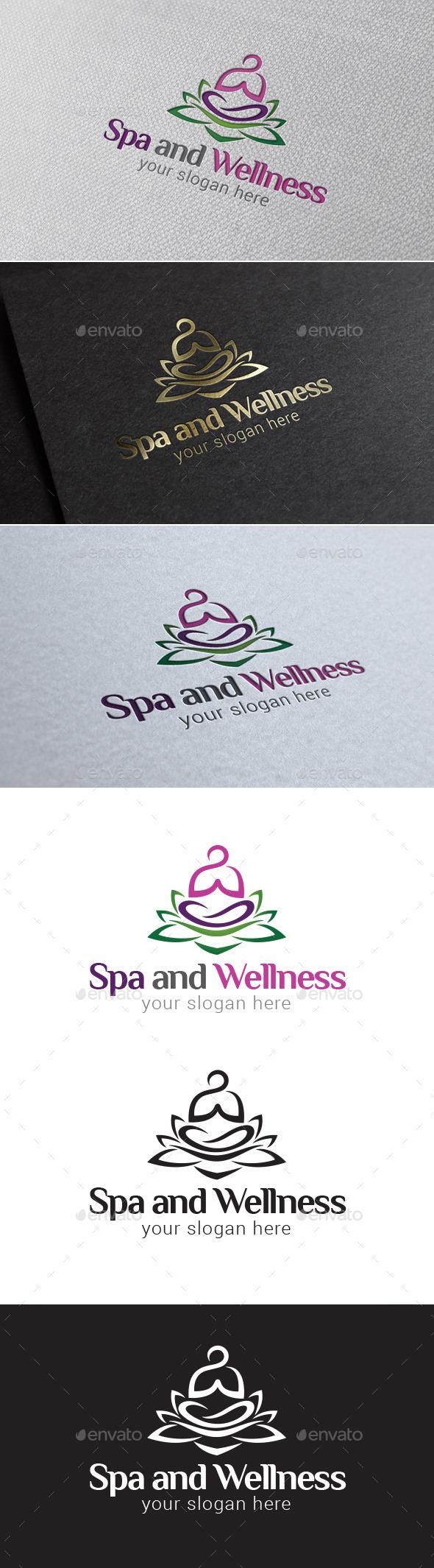 Spa and Wellness Logo Template - Symbols Logo Templates