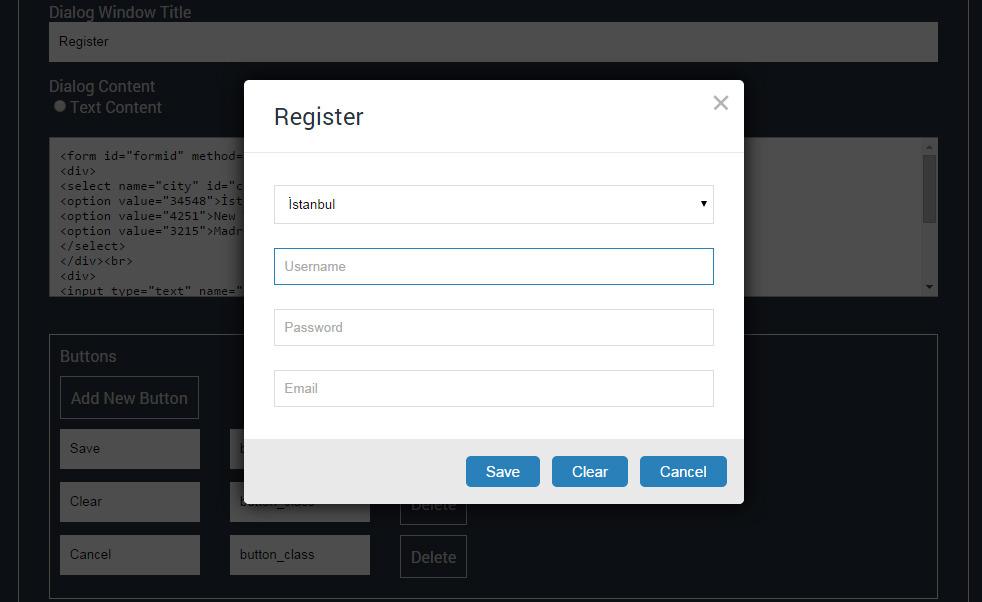 Super dialog modal window jquery plugin by tgundogdu for Window jquery