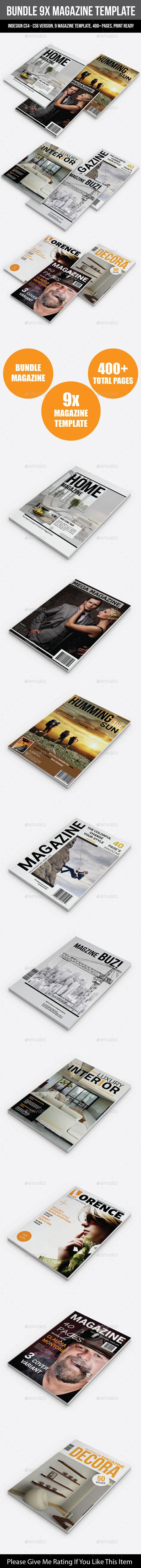 Bundle 9X Magazine Template - Magazines Print Templates