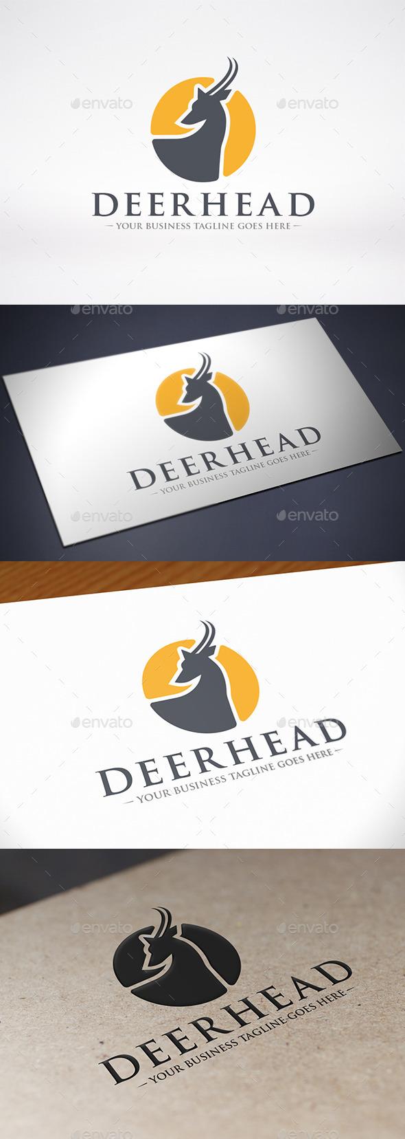 Deer Head Logo Template - Animals Logo Templates